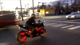 10. 2012 Kawasaki ZX6R Two Brothers Carbon Fiber Exhaust (Start Up, Revs, Flybys)