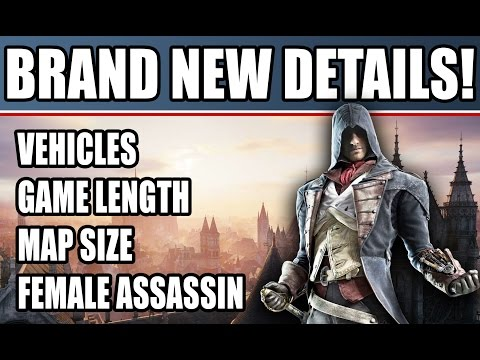 side - NEW! Assassin's Creed Unity new gameplay details including free roam side missions, game length, female assassins, hot air balloons, map size on PS4, Xbox One, PC. Stay tuned for Assassin's...