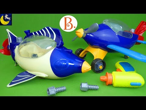 B. Toys Build-A-Ma-Jigs Submarine Aeroplane Take Apart Building Toys STEM Engineering Tool Toys