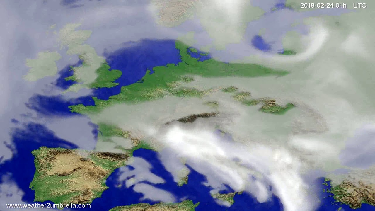 Cloud forecast Europe 2018-02-20