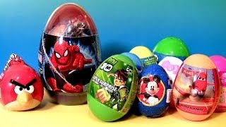 Kinder Surprise Eggs! Superman Angry Birds Disney Planes CARS Hobbit Monster High Mickey Huevos