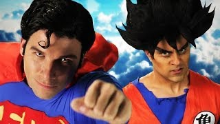 Goku vs Superman. Epic Rap Battles of History