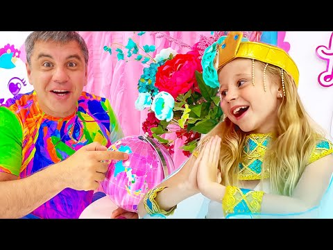 Nastya flies on a trip to learn about Russia. Educational video for kids.