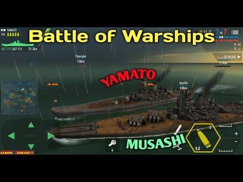 Battle of Warships - IJN Yamato With IJN Musashi Amazing Video