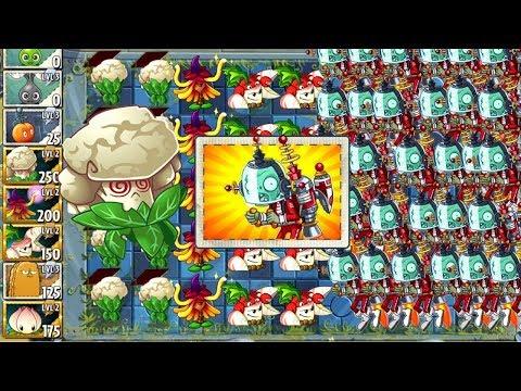 Plants vs. Zombies 2 - Challenge Hypno Shroom and Caulipower
