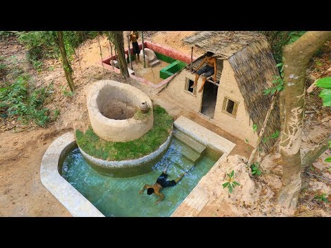 How To Build House , Ground water , Swimming pool And Gym room In Forest