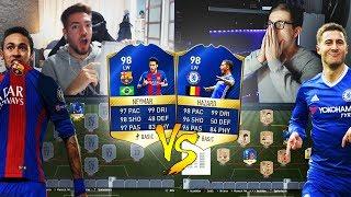 FIFA 17: TOTS NEYMAR vs TOTS HAZARD SQUAD BUILDER SHOWDOWN😱🔥😈 94+ TOTS DISCARD vs WAKEZ