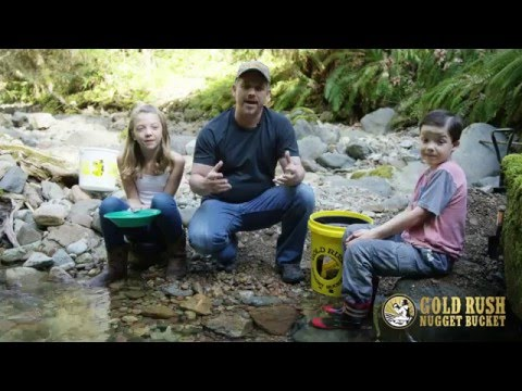 How To Pan For Gold With A Gold Rush Nugget Bucket