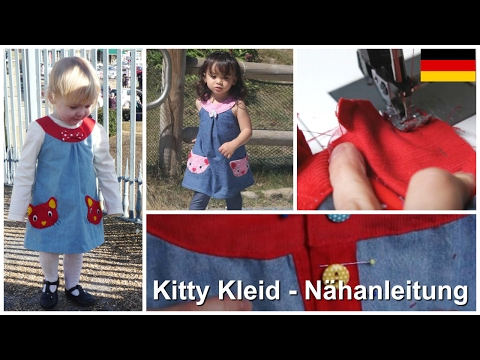 Hängerkleid mit niedlichen Katzentaschen