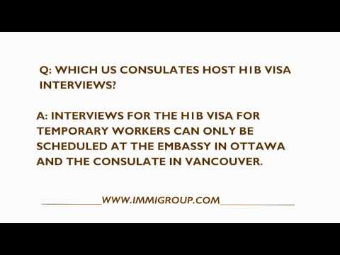 Which US Consulates Host H1B Visa Interviews?