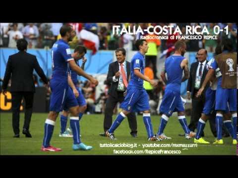 ITALIA-COSTA RICA 0-1 – Radiocronaca di Francesco Repice (20/6/2014) MONDIALI 2014 su Radiouno RAI