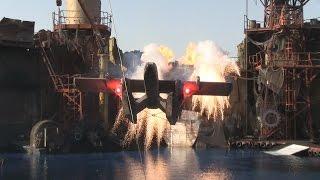 WaterWorld stunt show at Universal Studios Hollywood