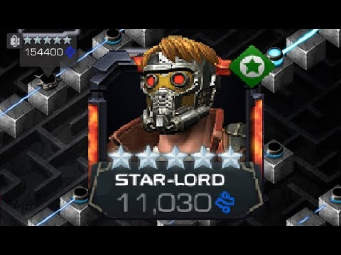 5 Star Star-lord Rank 5 Level 65 Vs Labyrinth Of Legends Red Hulk - Marvel Contest Of Champions