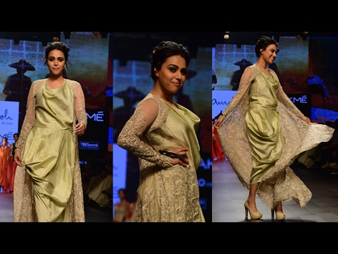 Swara Bhaskar Walks As Showstopper For Designer Jade At Lakme Fasion Week Summer 2017