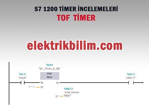 S7 1200 Komut İncelemeleri - TOF Timer Görsel Eğitim