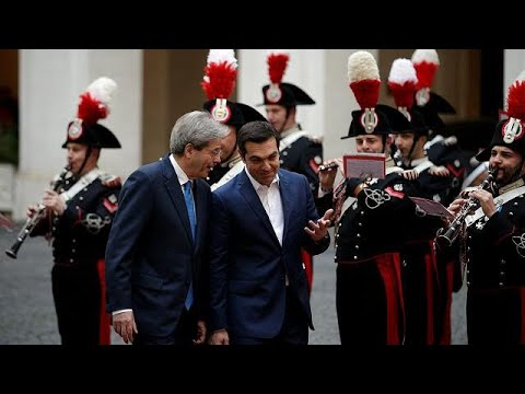Ministerpräsident Gentiloni empfängt Amtskollege Ts ...