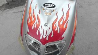 9. 2006 PGO T Rex 50 scooter review