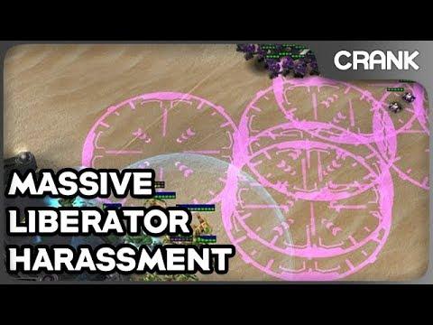 Massive Liberator Harassment - Crank's StarCraft 2 Variety!