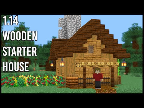 How To Make A Minecraft 1.14 Wooden Starter Base