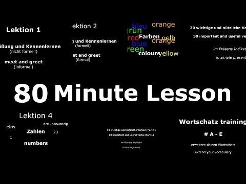 Deutsch Lernen: Grundwortschatz, Häufige Sätze & Wichtige Verben   80 Min Lektion   Learn German HD♫ (видео)