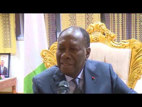 COTE D'IVOIRE: LE CHEF DE L'ETAT C 'EST EXPRIME A SON ARRIVÉE
