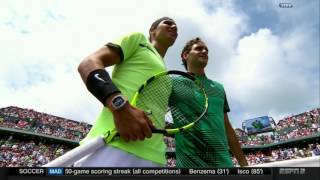 All rights of this video belong to ESPN (www.espn.com/tennis). Miami 2017 prematch build up. No play or point shown. Please don't ban the video.