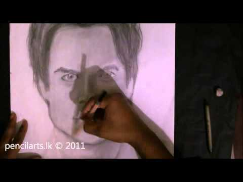 Damon Salvatore -The Vampire Diaries TV Series -  Pencil art by pencilarts.lk Charith Ekanayake