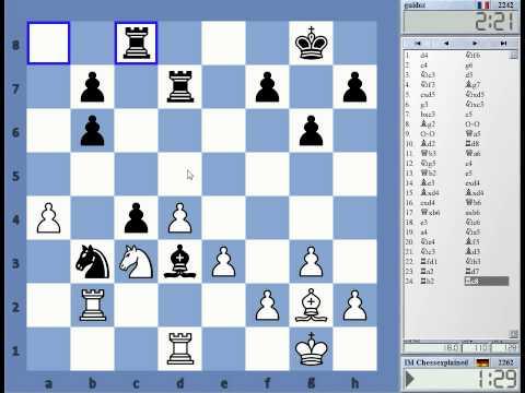 Blitz Chess #1642 with Live Comments Grunfeld Finachetto vs guidez with White