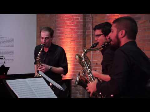 See video  Marc Mellits Black for Saxophone Quartet