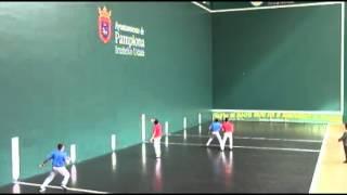 Campeonato de España de Federaciones Juvenil. Final Mano Parejas Espinal-Sarasa vs Agirre-Alduntxin