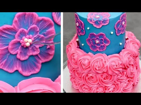 Quick & Easy Cakes Decorating Ideas | Buttercream Cake Tutorial