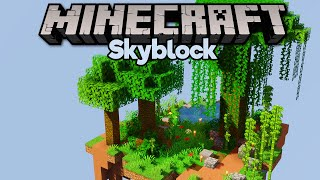 Building a Jungle Biome Floating Island! • Minecraft 1.15 Skyblock (Tutorial Let's Play) [Part 26]