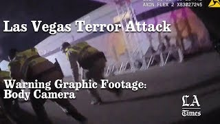 Стрельба в Лас Вегасе - видео с камер полицейских