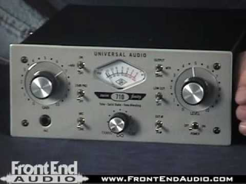 Universal Audio 710 Twin-Finity Microphone Preamp and DI @ FrontEndAudio.com
