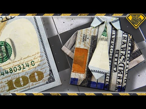 How to Make a Mini Shirt and Tie Out of Money
