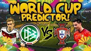 EA WORLD CUP PREDICTOR! - EP 3 - GERMANY VS PORTUGAL!