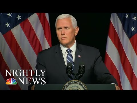 Vice President Mike Pence Unveils Plan To Create U.S. Space Force | NBC Nightly News
