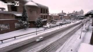Neve sui Fori Imperiali il time lapse la lapse050212kkk