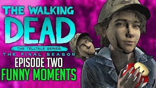 FUNNY MOMENTS of The Walking Dead: The Final Season Episode 2