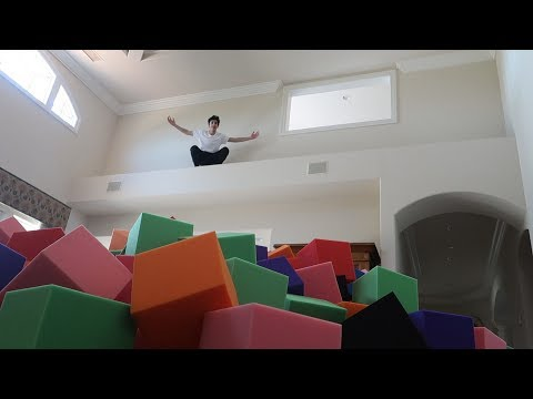 INDOOR FOAM PIT IN THE NEW HOUSE!! (INSANE) | FaZe Rug