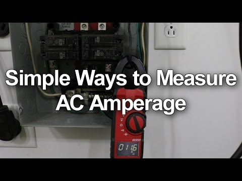 How to Measure AC Amps - Circuit Breakers and Wall Outlets