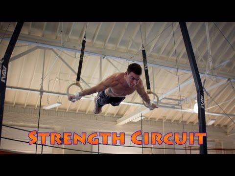 Gymnastics Conditioning Circuit Training at The University of Illinois Gymnastics видео