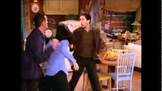 Ross sees Monica and Chandler making love from his window and travels across to their apartment to break it up. Subscribe and Request to See Scenes you Want!