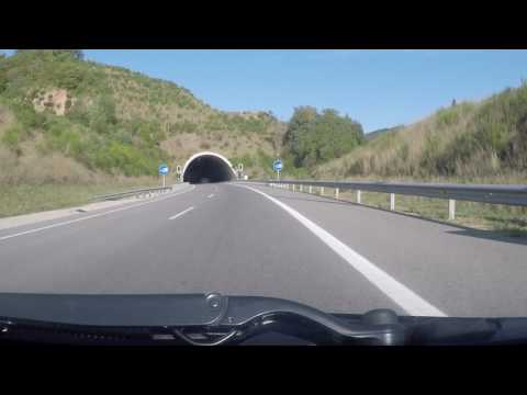 Spain by Road - Girona to Vic -C25 GI551 Tunnel Espinelves