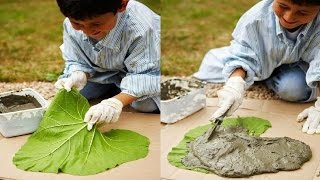 Cómo hacer un camino en el jardín en forma de hoja