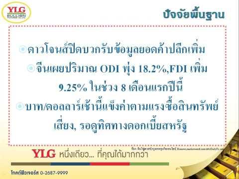YLG บทวิเคราะห์ราคาทองคำประจำวัน 16-09-15
