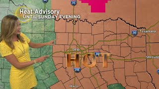The weather hit triple-digits in North Texas on Saturday with heat advisory still in effect.