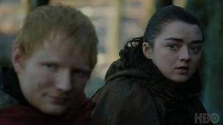 Game of Thrones׃ Season 7 Episode 1 Clip׃ Arya and Ed Sheeran HBO Ed Sheeran's scene on Game of Thrones