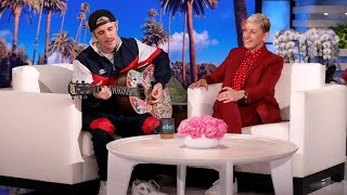 Video Justin Bieber Serenades Ellen with 'Yummy' download in MP3, 3GP, MP4, WEBM, AVI, FLV January 2017