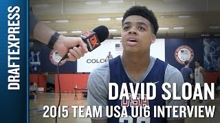 David Sloan 2015 Team USA U16 Interview - DraftExpress